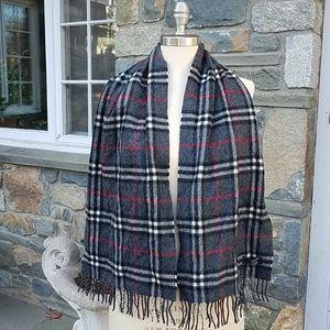 Burberry 100% cashmere nova check scarf